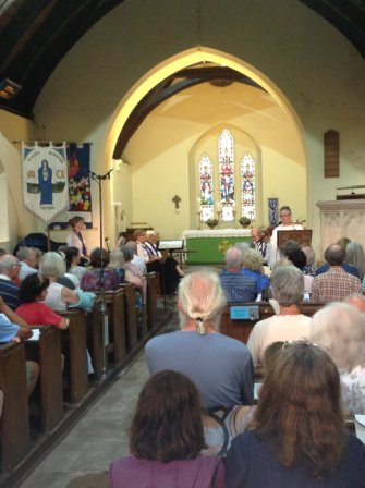 The event at St Michael's Tintern